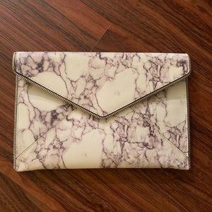 Rebecca Minkoff Marble Print Envelope Clutch